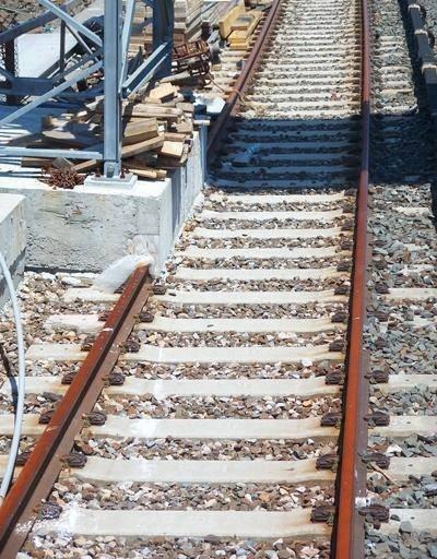 İNŞAAT-Tren yoluna sabotaj