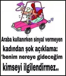Kadın Sürücü SİNYAL
