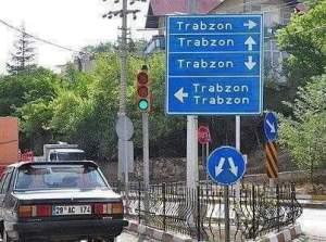 Trabzon yol işaretleri