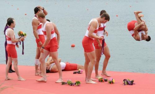 2012 Olimpics Canada 8+ Bronz sevinci
