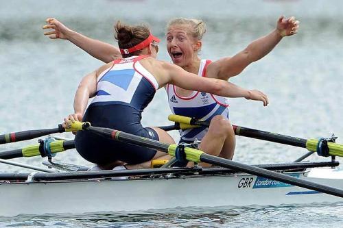 2012 Olimpics GB LW2X sevinci