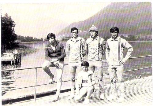 17-1970 4+ Villach. Erdnç Karaer, Celal Gürsoy, Ahmet Şenkal, Mehmet Ayata, Dümenci Hüseyin Özer