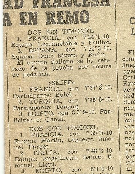 9a-1955 Barcelona Akdeniz Oyunları 1x sonuçları 2