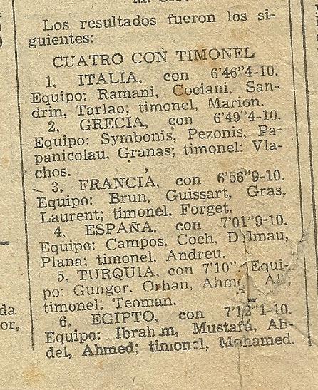 9b-1955 Barcelona Akdeniz Oyunları 4+2