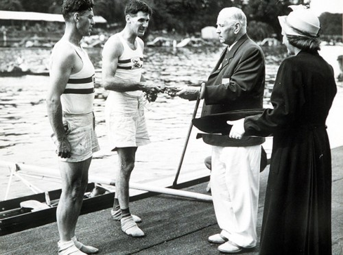 14-Great-Britain-pair-Jack-Wilson-and-Ran-Laurie-receive-their-gold-medals-in-rowing