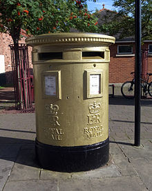 19-2012 - Wrexham_gold_post_box