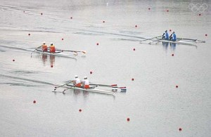 BEIJING - AUGUST 17: The Women's Double Sculls takes place at the Shunyi Olympic Rowing-Canoeing Park during Day 9 of the Beijing 2008 Olympic Games on August 17, 2008 in Beijing, China. (Photo by Jamie Squire/Getty Images)
