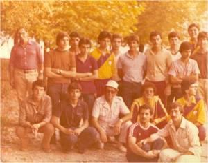 10-1979 Antrenör Celal Gürsoy, sporcular ve Emin Gezgöç şampiyona öncesinde