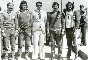 12-1975 Faruk Algür-Gürtan Tokay-Spor Bakanı Ali Şevki Erek-Recep Akıcı-Mehmet Burçkin
