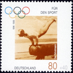 6-Stamp_Germany_1996_Briefmarke_Sport_Carl_Schuhmann