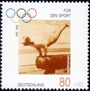 6-Stamp_Germany_1996_Briefmarke_Sport_Carl_Schuhmann