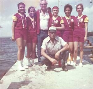 8-1976 ler, Şube Kaptanı İlter Tekand ve bayan takımı Emin Gezgöç ile
