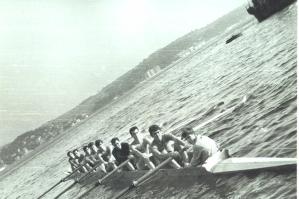 43-1967 Sekiz Tek Adanın önünde antrenmanda