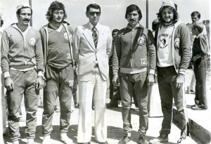 4-1975 Faruk Algür-Gürtan Tokay-Spor Bakanı Ali Şevki Erek-Recep Akıcı-Mehmet Burçkin