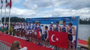 2016 Trakai J4+ Bronz (Dümenci) Kaan Aksu, Alihan Sungurlu, Ismail Ali Bekiroğlu, Ömer Öztürk, İnanç Şahin.