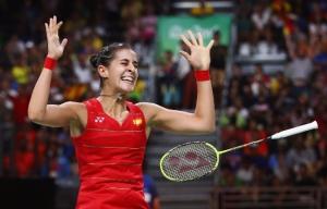 27-İspanyol Carolina Marin Badmintonda ilk Olimpiyat Altınını kazanınca
